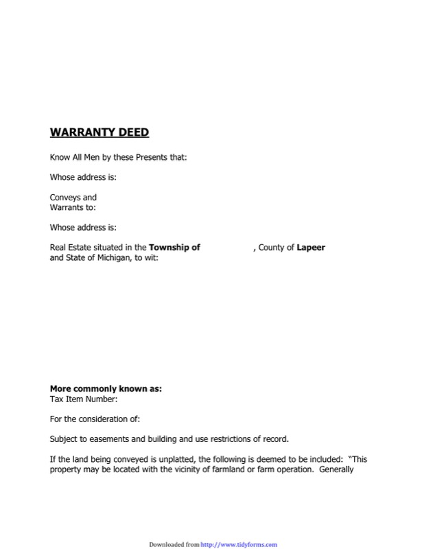 Warranty Deed Form Templates  Free Templates In Doc Ppt Pdf  Xls