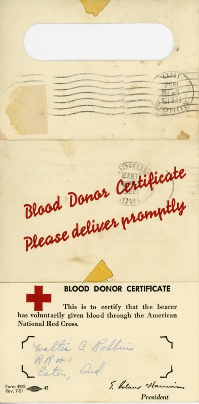 Blood Donation Certificate Template  Certificate Of Donation Template