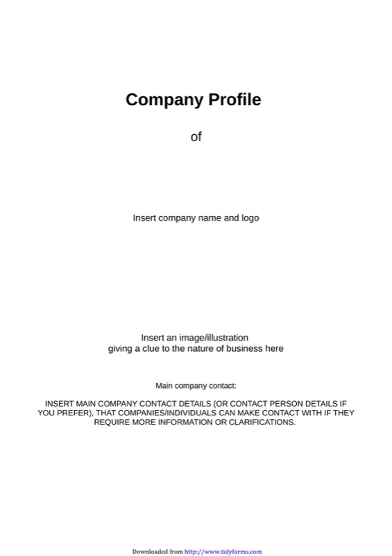 company profile sheet template