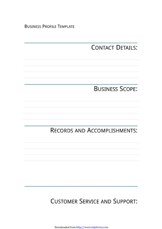 Business Profile Template 1