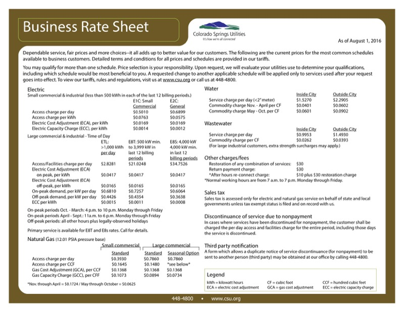 Rate Sheet Templates  Free Templates In Doc Ppt Pdf  Xls