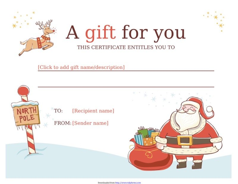 Gift certificate template free templates in doc ppt pdf xls christmas gift certificate template yelopaper Image collections