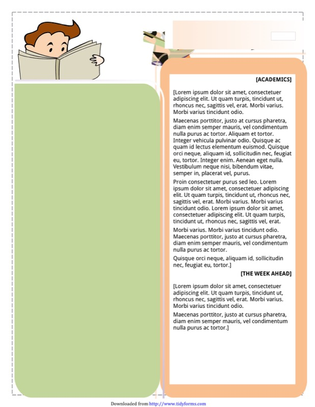Classroom Newsletter Template  Free Templates In Doc Ppt Pdf  Xls