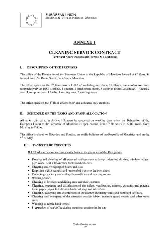 Cleaning Contract Template  Free Templates In Doc Ppt Pdf  Xls