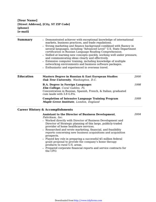 Functional Resume Template  Free Templates In Doc Ppt Pdf  Xls
