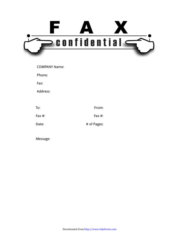 Confidential Fax Cover Sheet Templates  Free Templates In Doc Ppt