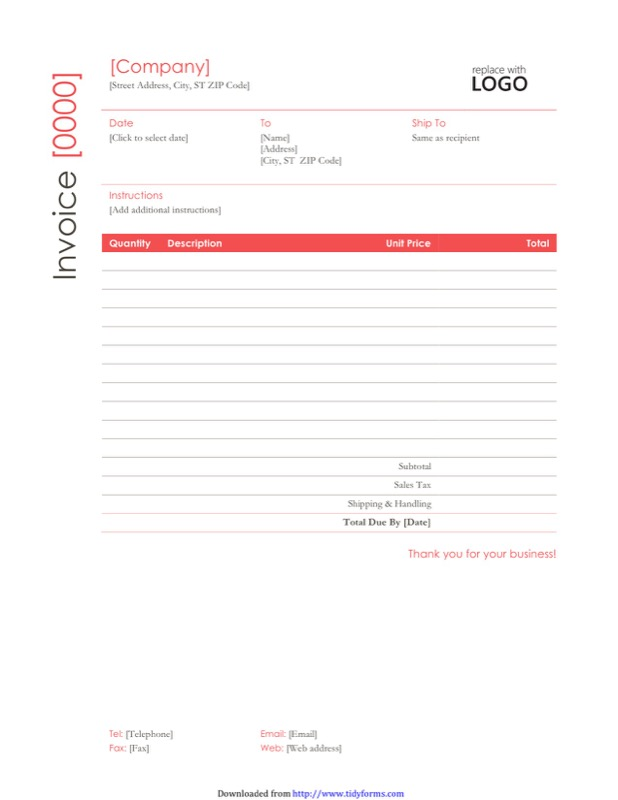 Construction Invoice Templates Free Templates In DOC PPT PDF XLS - Invoice template for builders