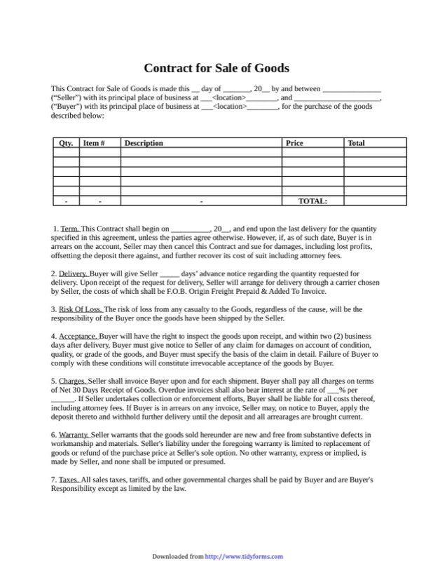 Sales Contract Template  Free Templates In Doc Ppt Pdf  Xls