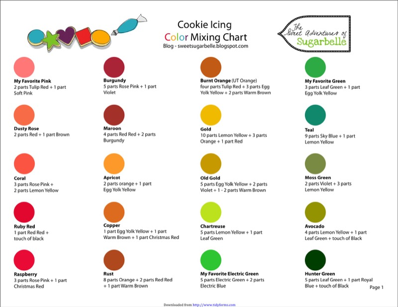 Food Coloring Chart Templates  Free Templates In Doc Ppt Pdf  Xls
