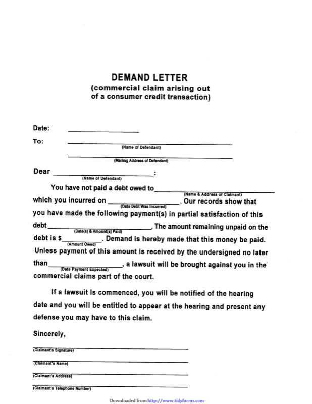 Demand Letter Sample Templates  Free Templates In Doc Ppt Pdf  Xls