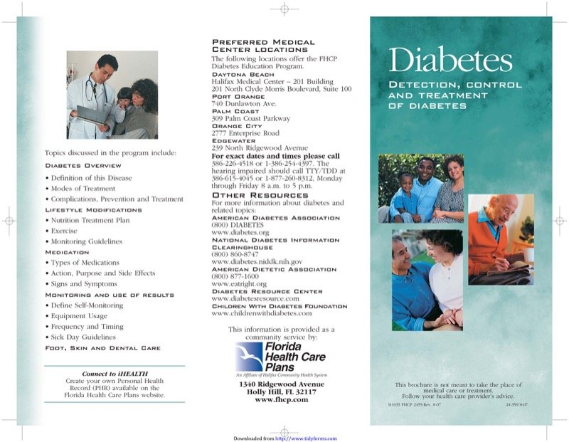 Diabetes Brochure Templates  Free Templates In Doc Ppt Pdf  Xls