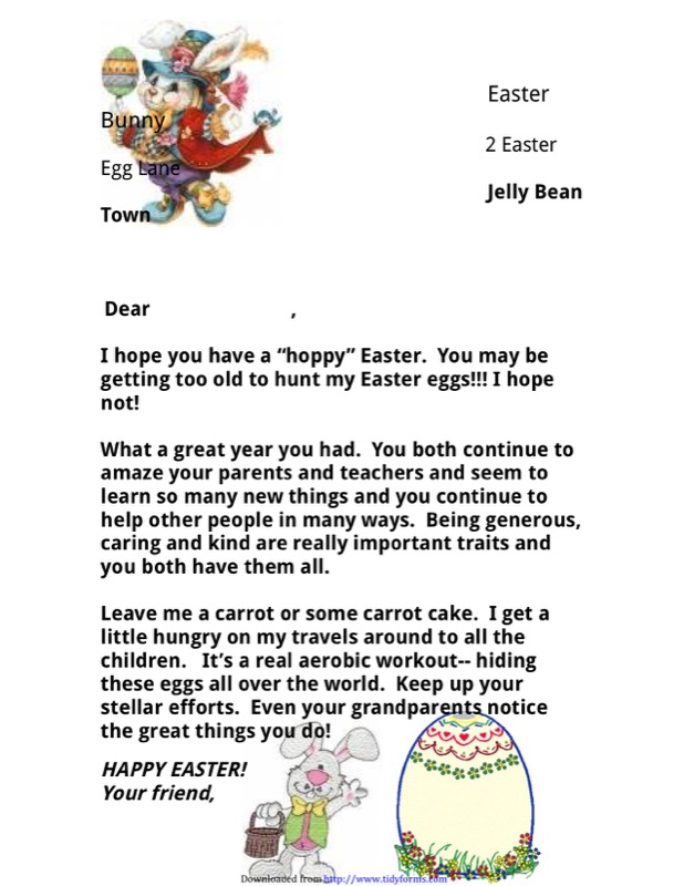 Easter Bunny Letter Template  Free Templates In Doc Ppt Pdf  Xls