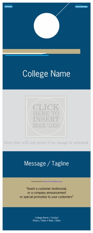 Education Door Hanger Template  Free Templates In Doc Ppt Pdf  Xls