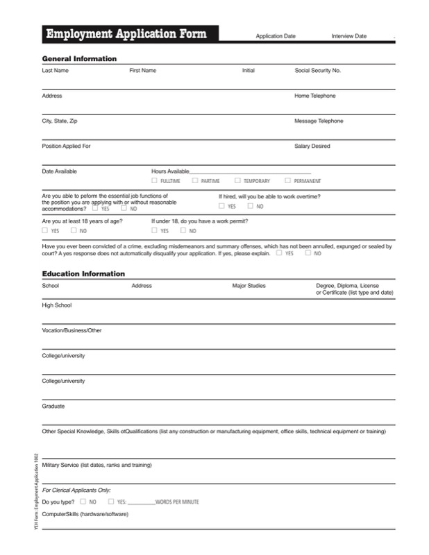 Sample Job Application Templates  Free Templates In Doc Ppt Pdf  Xls