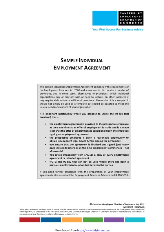 Employment Contract Template  Free Templates In Doc Ppt Pdf  Xls