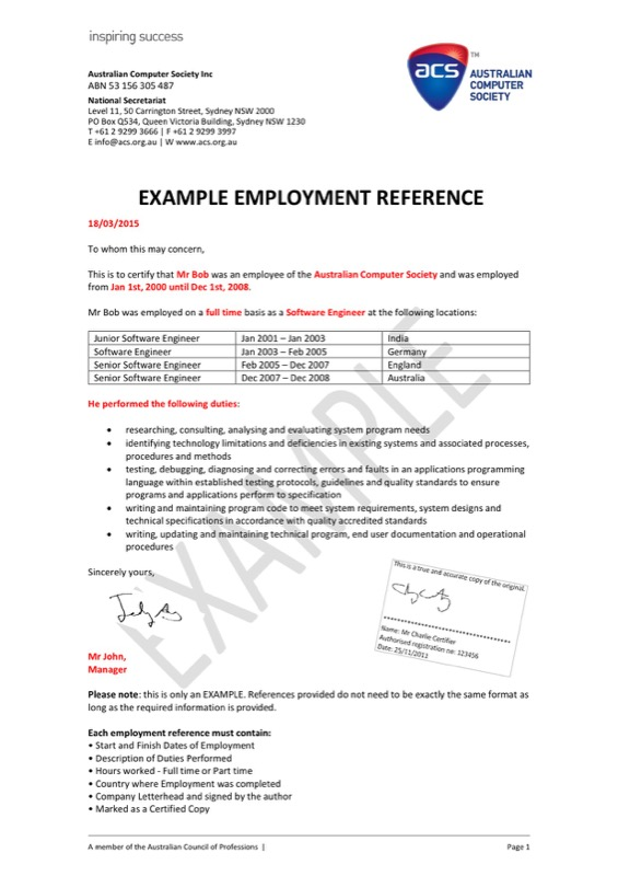 Sample Employment Reference Letter Templates  Free Templates In Doc
