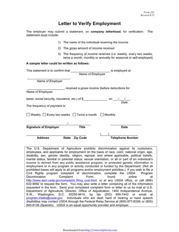 Employment Verification Form Templates  Free Templates In Doc Ppt