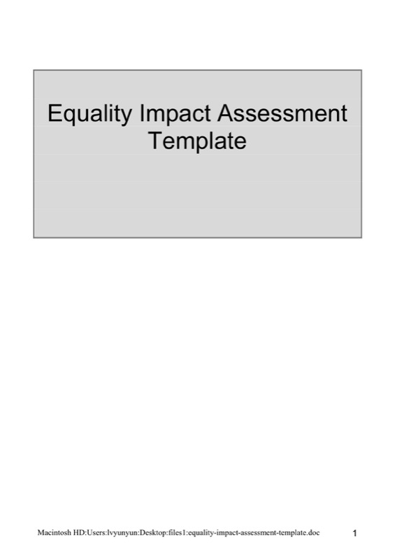 Download Environmental Impact Assessment Template For Free  Tidyform