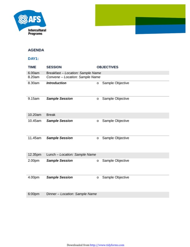 Event Agenda Template  Free Templates In Doc Ppt Pdf  Xls
