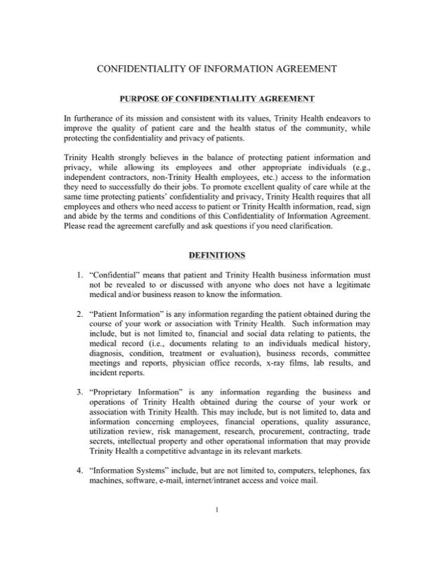 Celebrity Confidentiality Agreement Templates  Free Templates In