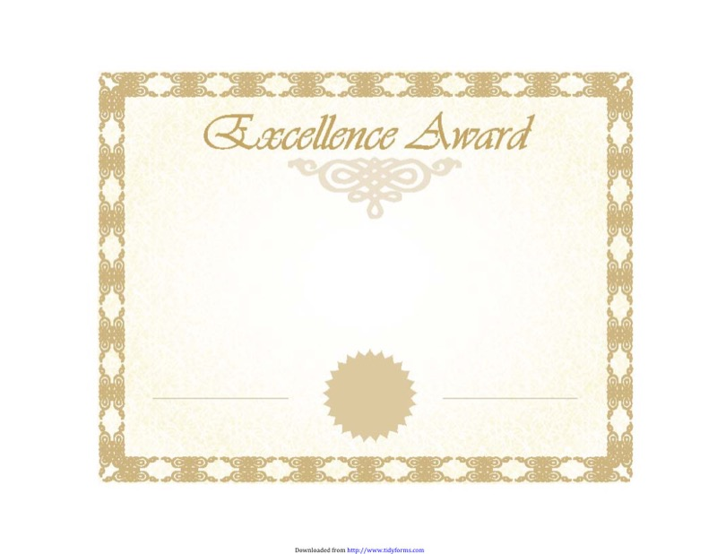 Certificate Of Excellence Templates  Free Templates In Doc Ppt