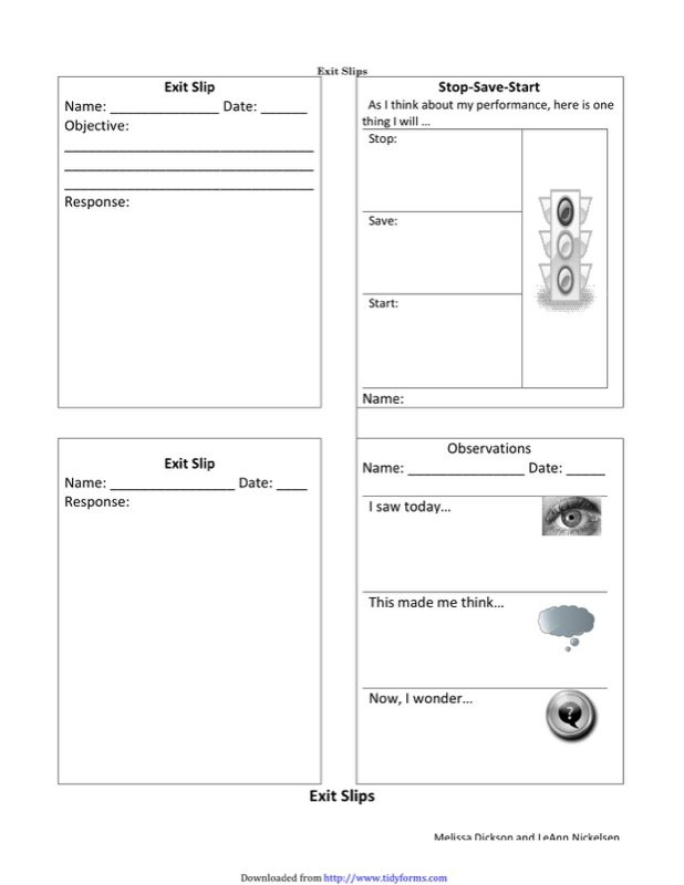 Exit Ticket Template  Free Templates In Doc Ppt Pdf  Xls