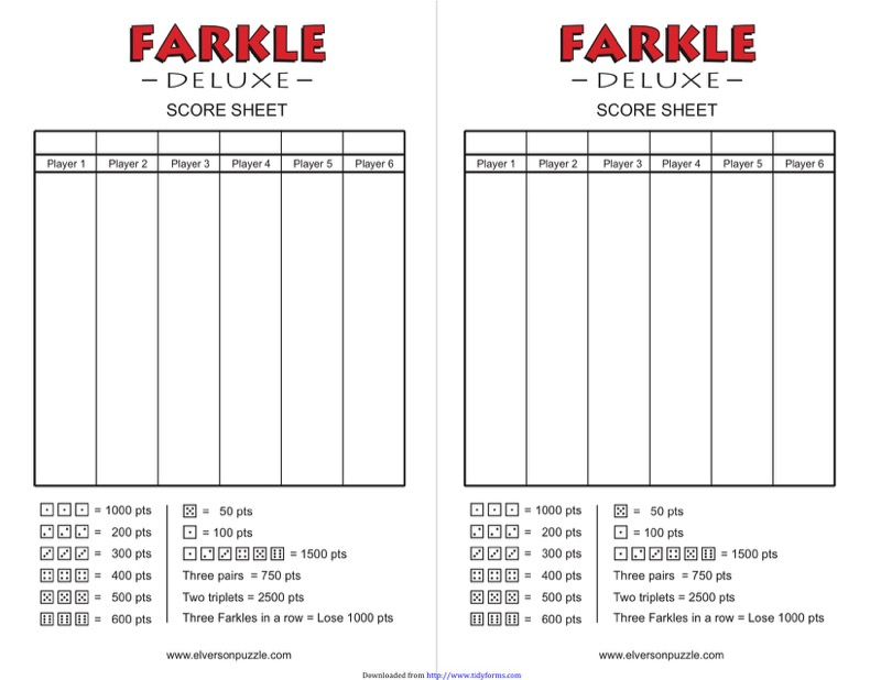 Farkle Score Sheet Templates  Free Templates In Doc Ppt Pdf  Xls