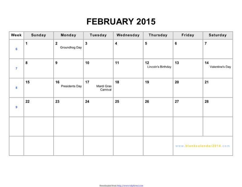 February 2015 calendar templates free templates in doc ppt pdf xls february 2015 calendar 2 saigontimesfo
