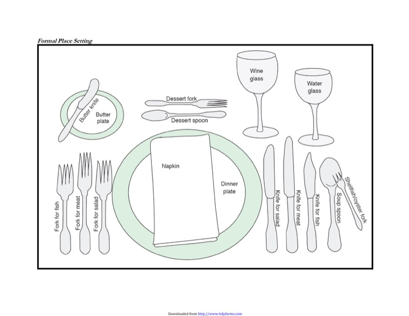 Download Place Setting Template For Free  Tidyform