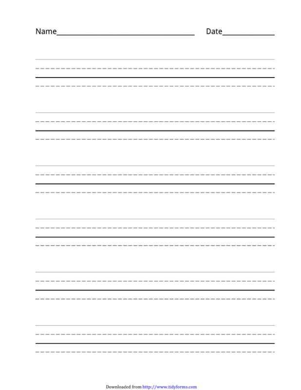 Four Lined Paper Template. File Type: DOT | PDF  Lined Paper To Type On
