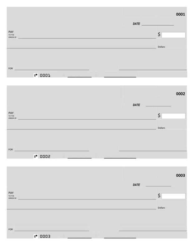 Blank Check Template  Free Templates In Doc Ppt Pdf  Xls