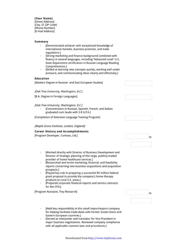 Functional Resume With Education Emphasis  Functional Resume Templates Free