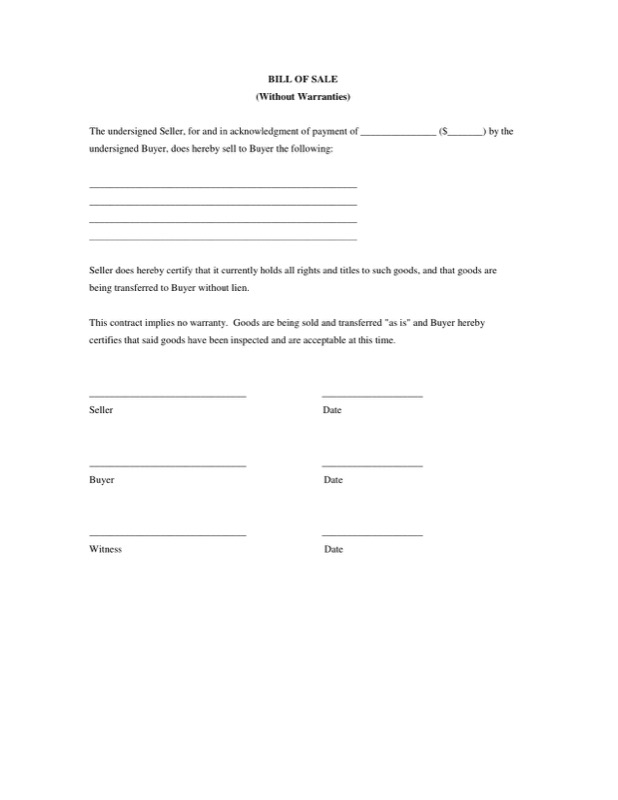 Bill Of Sale Form Templates  Free Templates In Doc Ppt Pdf  Xls