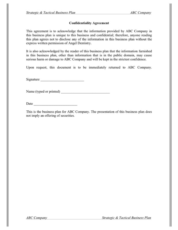 Business Confidentiality Agreement Templates  Free Templates In Doc