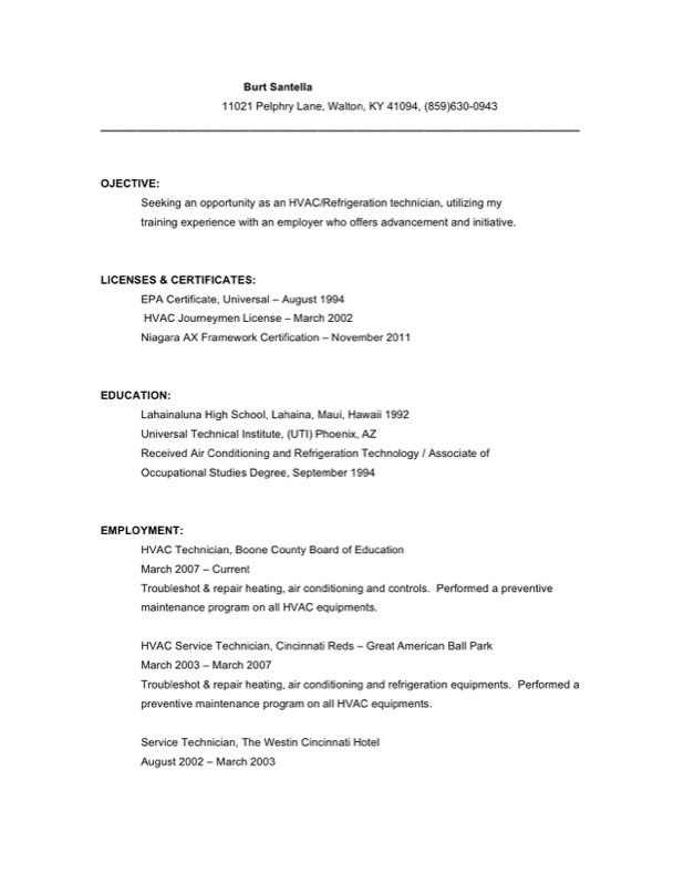 hvac service technician resume free download1 - Hvac Resume Template