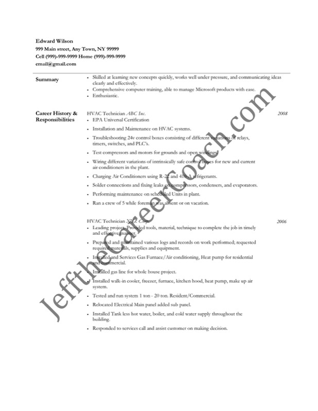 HVAC Resume Template Free Templates in DOC PPT PDF XLS