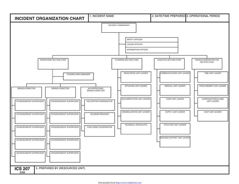 Ics Organizational Chart Templates  Free Templates In Doc Ppt Pdf