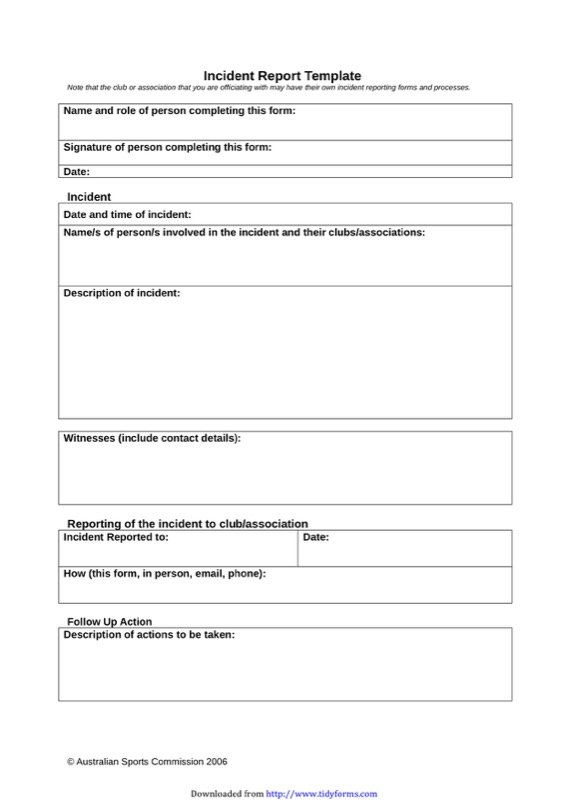 Incident Report Template1