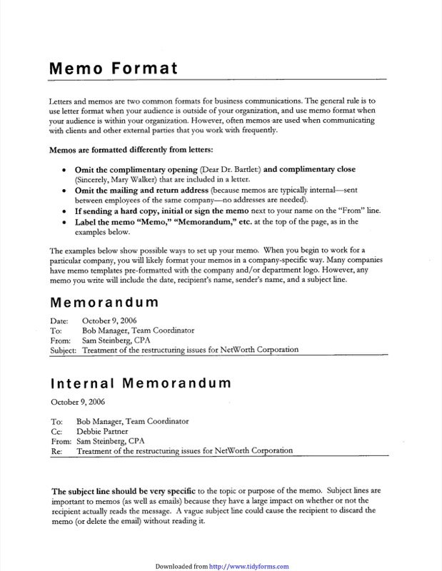 Internal Memo Template  Memo Template Free Download
