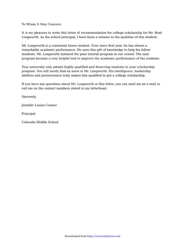 College Recommendation Letter Templates  Free Templates In Doc Ppt