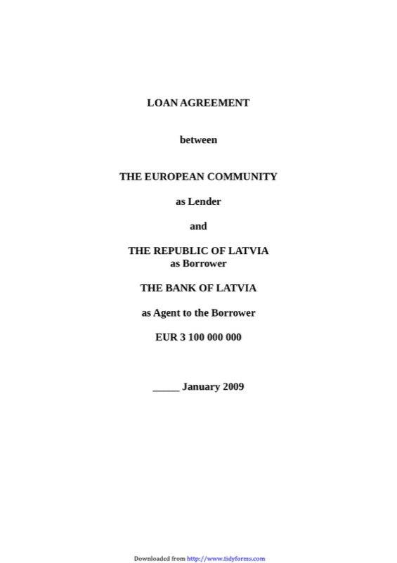 Loan Agreement Template  Free Templates In Doc Ppt Pdf  Xls