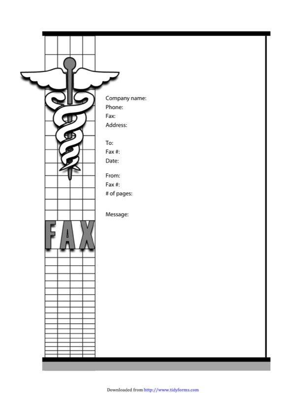 medical fax cover sheet
