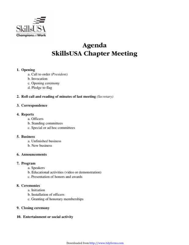 Meeting Agenda Sample Templates  Free Templates In Doc Ppt Pdf  Xls