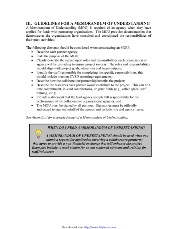 Memorandum Of Understanding Template  Free Templates In Doc Ppt