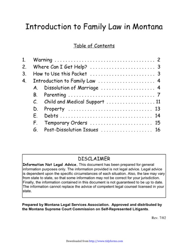 Montana Divorce Papers  Free Templates In Doc Ppt Pdf  Xls