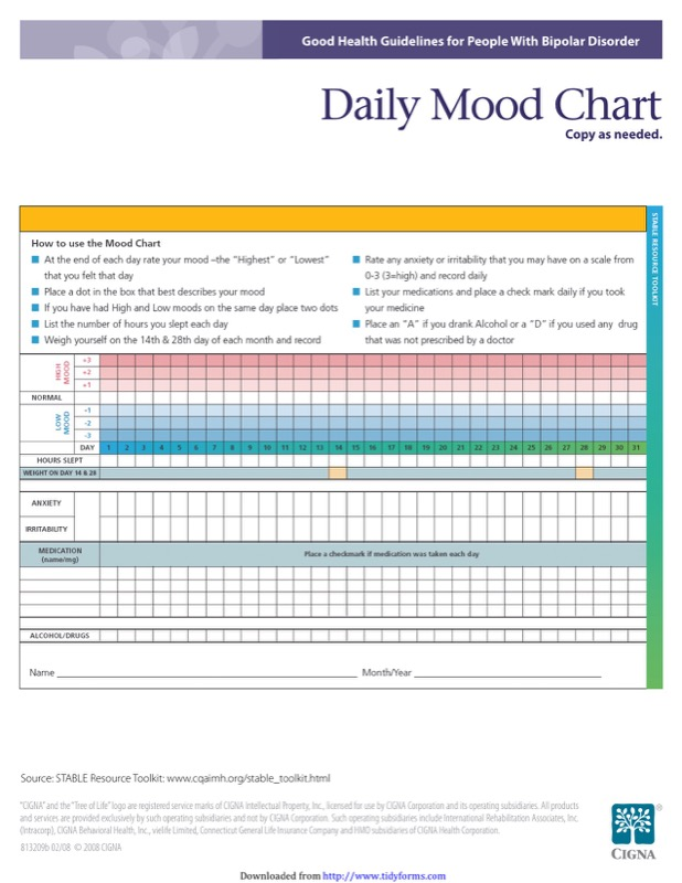 Mood Chart Templates  Free Templates In Doc Ppt Pdf  Xls