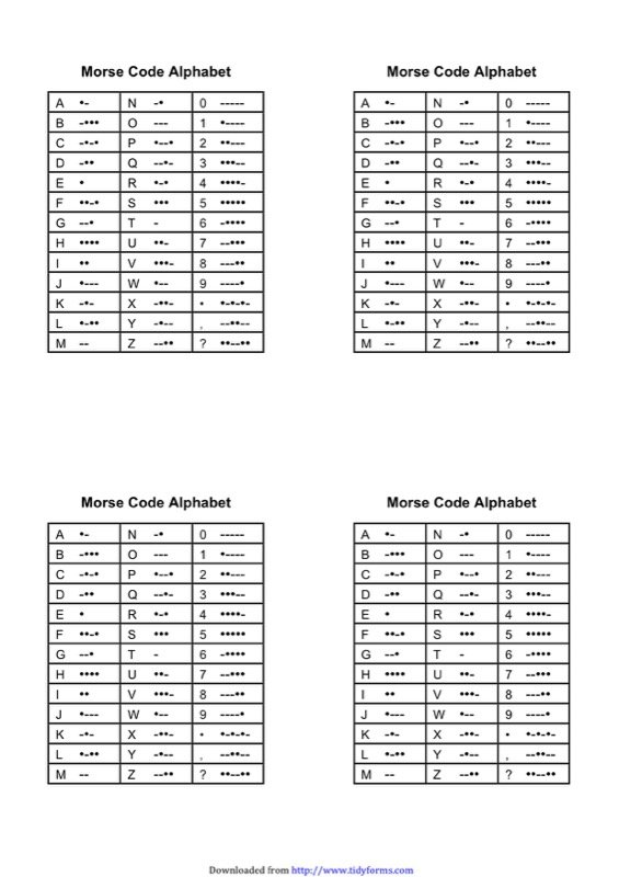 Morse Code Chart Templates  Free Templates In Doc Ppt Pdf  Xls