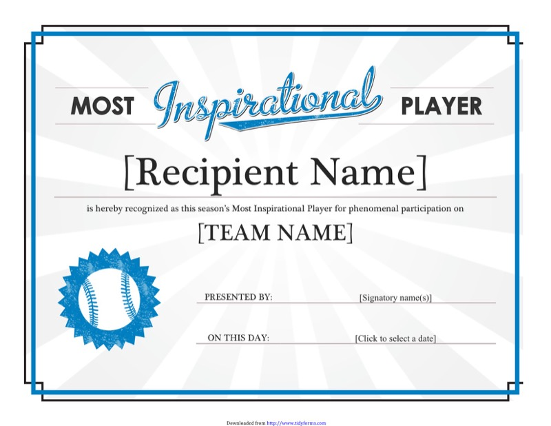 Sports Certificates Templates  Free Templates In Doc Ppt Pdf  Xls