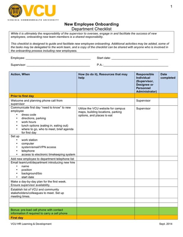 Employee Checklist Templates  Free Templates In Doc Ppt Pdf  Xls