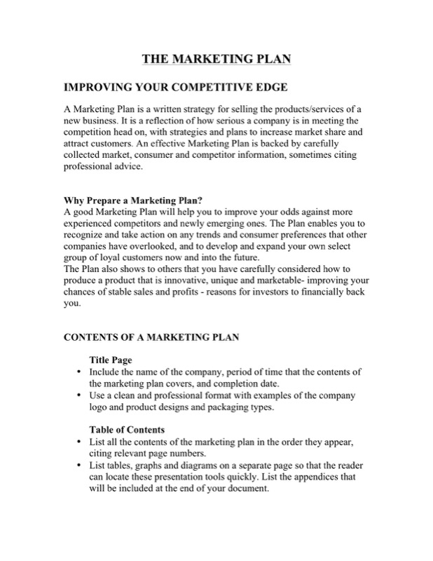 marketing plan for new product How to create a successful b2b new product launch strategy (first published in b2b marketing magazine) introducing a new product or service can boost sales and market share, and fuel growth.